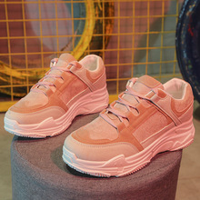Comfy Breathable Mesh Trainers Chunky Heels 5cm Womens Platform Sneakers Women Shoes Casual Female