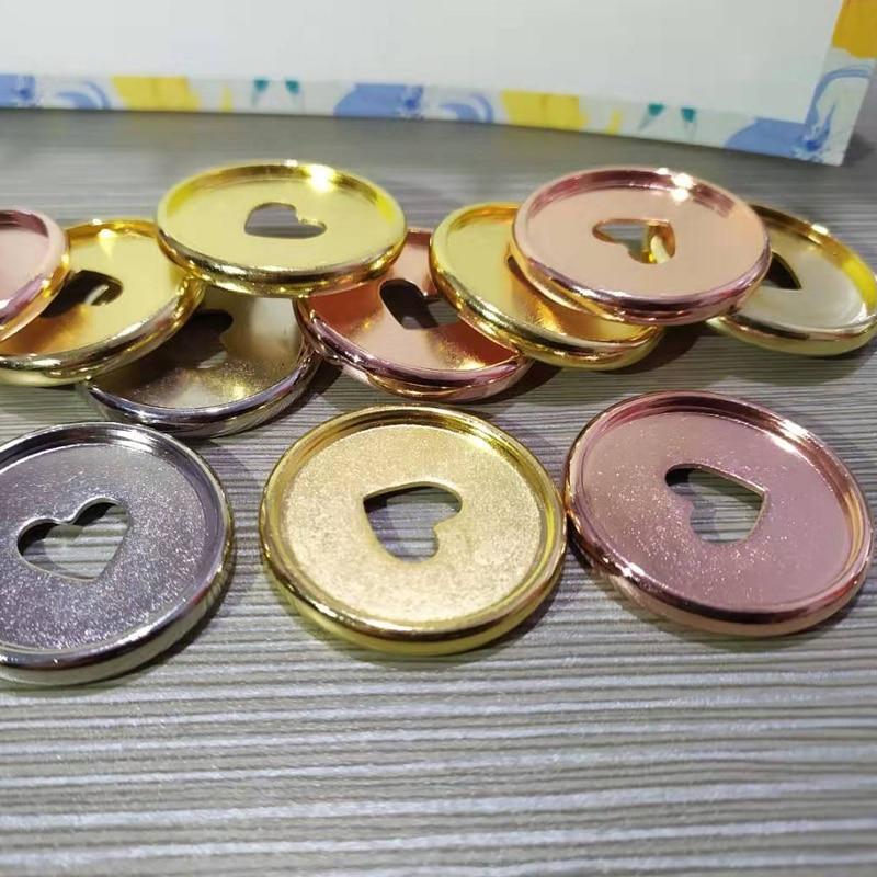 12PCS 35MM Multicolor Binding Disc Buckle Heart Binder Rings Plastic Mushroom Hole Loose Leaf Buckle Ring DIY Binder Notebook