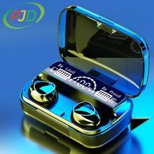PJD Wireless Headphones Bluetooth TWS 5.1 Noise Canceling Gamer In Ear HeadPhones With Microphone Hifi LED Display Earphones