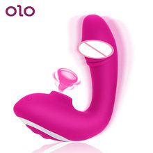 OLO Clit Sucking Vibrator Dildo Vibrating G Spot Vagina Stimulator Nipple Sucker Sex Toys for Adults Couple Female(China)