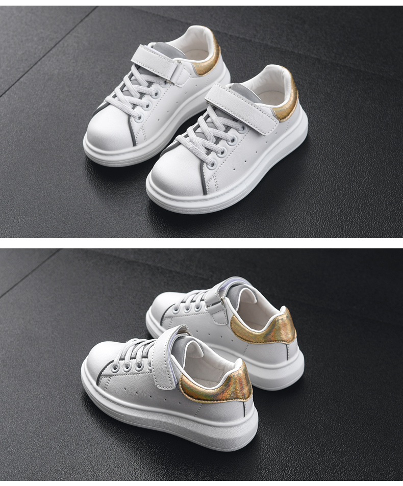 Crianças sapatos de couro branco para meninas