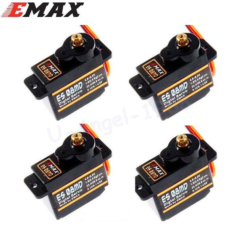4x EMAX ES08MDII ES08MD II  Metal GEAR Digital Servo up sg90 ES08A ES08MA MG90S TREX 450 Free shipping