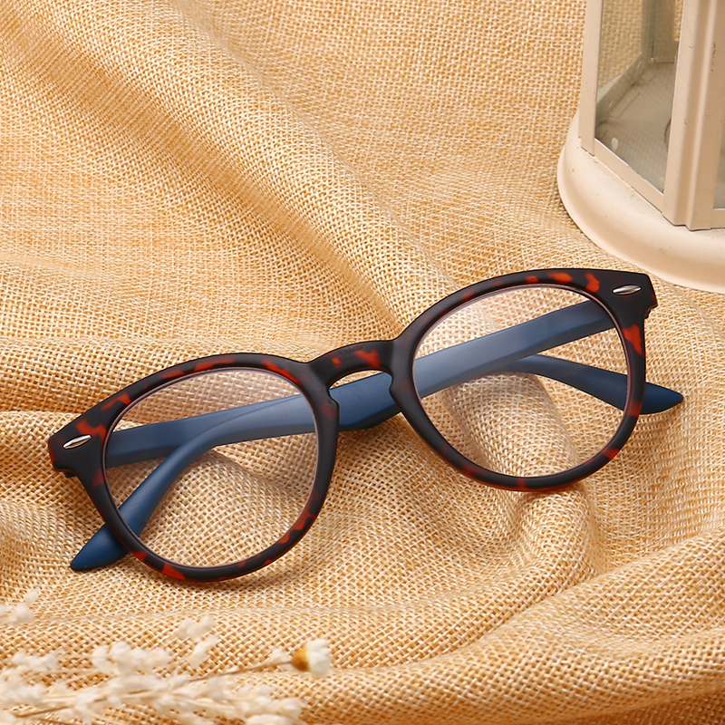 Ti-CARING Fashion Colors Unbreakable Reading Glasses Women Men Ultralight Anti Fatigue Flower Temple Presbyopic Magnifier