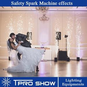 Image 5 - Машина фейерверков с холодным свечением, дистанционный сверкающий фонтан Dmx 500 Вт, бездымный, блестящий для свадьбы в помещении, Ti, Flycase, Opt, 2019