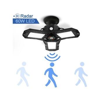 Radar LED Garage Light Motion Sensor AC85-300 60W 50W 100W Deformation Adjustable Angle Garage Lamp Industrial For Garage Worksh