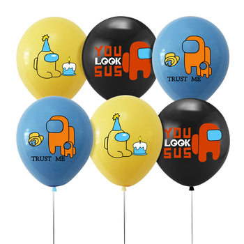 among us Game theme party balloon Games birthday party supplies Birthday party balloon Children's Day balloon Holiday balloon image