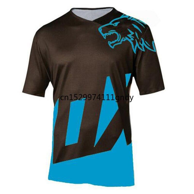 2020 эндуро велосипед Джерси мотокросса bmx гоночный Джерси Горные dh короткий рукав велосипедная одежда mx летняя mtb футболка title=