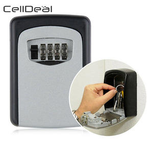 Lock-Box Key-Storage Wall-Mounted 4-Digit-Combination Aluminum-Alloy Outdoor Weatherproof