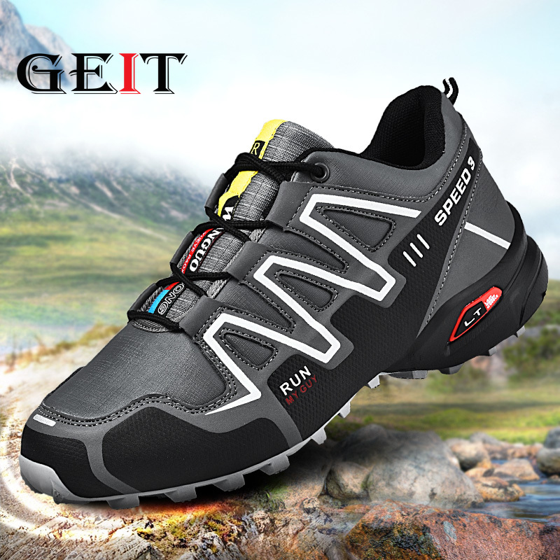Trekking Shoes Sneakers Outdoor Speed-3 Lightweight Breathable New Anti-Slip Men Pu Popular-Style