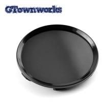 Couvercle central de jante de roue noir brillant, capuchon de moyeu de roue chromé argenté de 64mm adapté pour 13214660 13117069 09179670 09179671 pour la rénovation de voiture 1 pièce