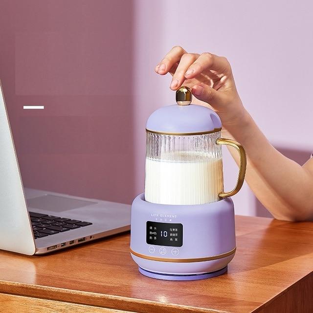 Bouilloire électrique Portable automatique 220V 400ML, Mini marmite chauffante en verre, bouteille de service de santé pour la maison 2