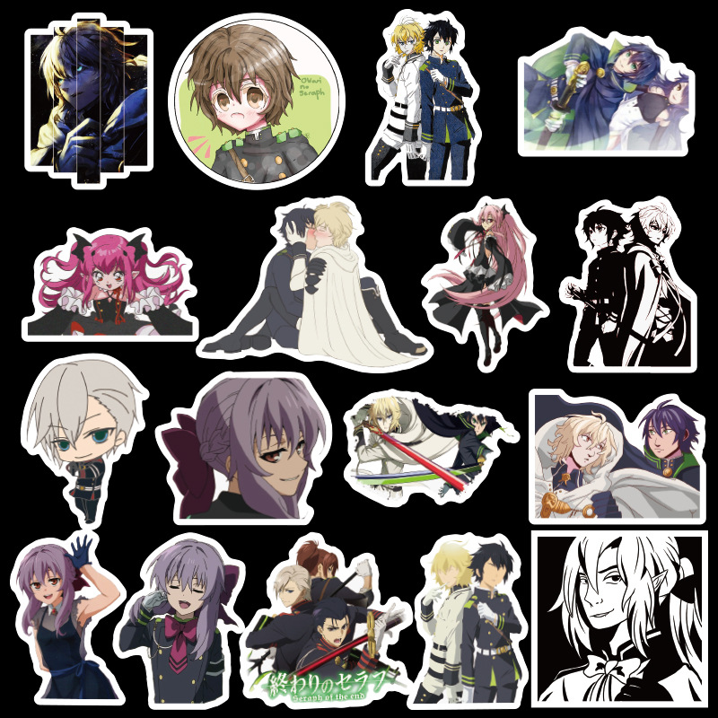 50PCS Japan Anime Seraph of The End Sticker for Luggage Laptop Skateboard Car Bicycle Backpack Decal Pegatinas Toy Stickers