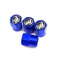 새로운 제품 도매 자동차 스타일링 자동차 액세서리 알루미늄 크롬 블루 자동차 휠 타이어 밸브 캡 케이스 lifan 모터