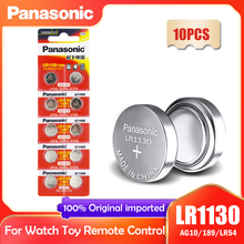 10 шт. Panasonic LR1130 LR 1130 1,5 V кнопочная батарейка монета 189 AG10 V10GA L1131 SR1130W SR1130 389 LR54 SR54 Щелочная батарейка для часов