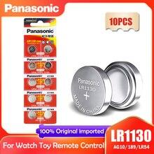 10PCS Panasonic LR1130 LR 1130 1.5V Botão de Célula tipo Moeda 189 AG10 V10GA L1131 SR1130W SR1130 389 LR54 SR54 Relógio Bateria Alcalina