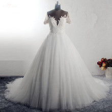 RSW1589 Princess Ball Gown Sweetheart Neckline Wedding Dress With Sleeve Short