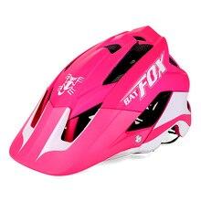 цена на BATFOX Bicycle Helmet Women Men Cycling Helmet MTB Bike Mountain Road Cycling Safety Outdoor Sport Lightweight Large Visor Helme