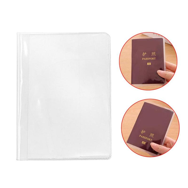 Transparent Passport Cover Waterproof Document Passport De Transparent Scrub Travel Protective Couverture Set Passport Docu E9E4