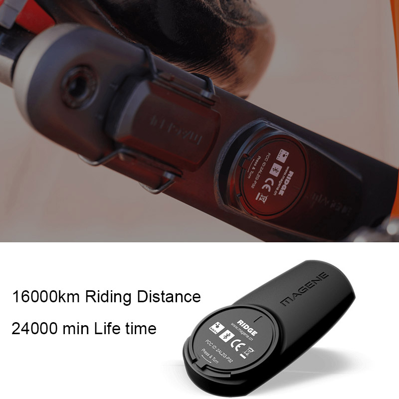 RIDGE Power Meter Cycling Speed Sensor Cadence Wireless ANT+ Dual Protocol R8000 Single-Sided Crank UT Mtb Road Bike Strain Gage