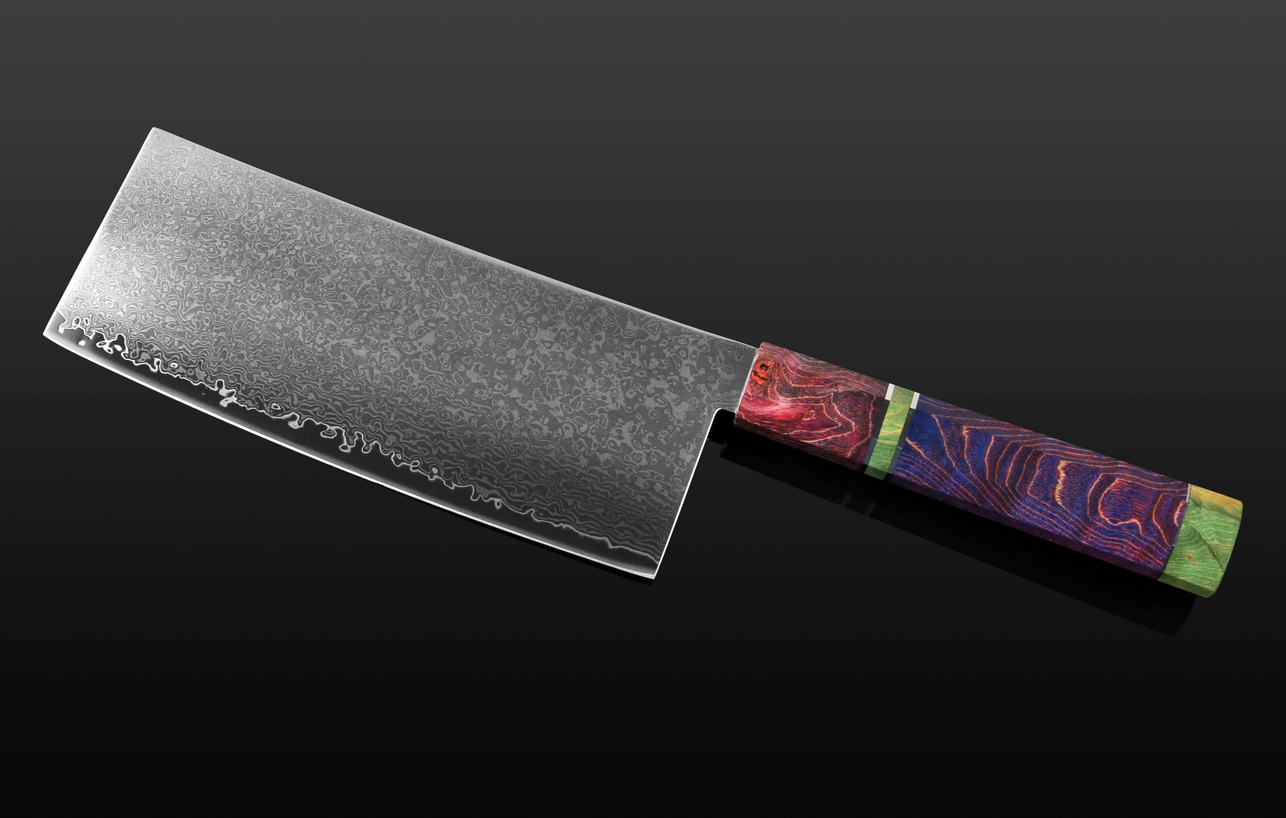 XITUO In Acciaio di Damasco Coltello Da Chef Japanes Professionale Coltello Da Cucina Sharp Mannaia Affettare Macellaio Stabile Manico In Legno Strumento di Cottura