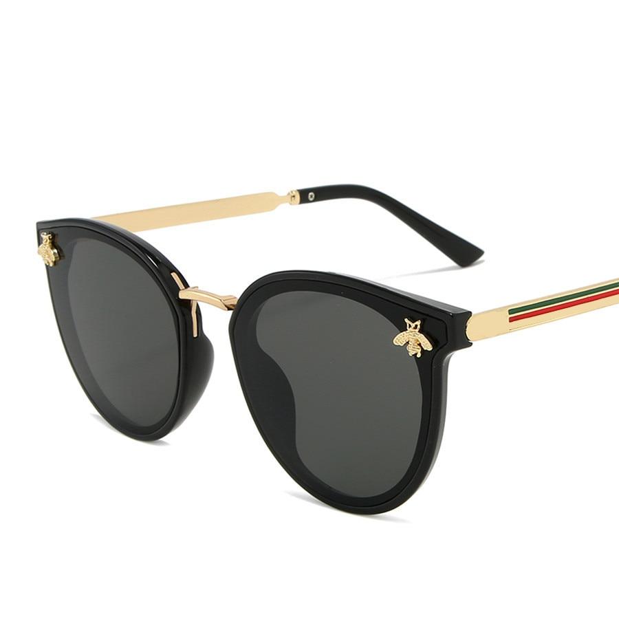 2020 luxus bee Mode für frauen Sonnenbrille Männer Platz Marke Design Sonnenbrille Oculos Retro männlichen eisen