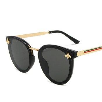 2020 luxury bee Fashion for women Sunglasses Men Square Brand Design Sun Glasses Oculos Retro male iron