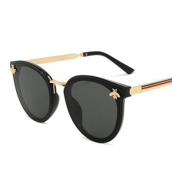 Okulary przeciwsłoneczne luksusowe z pszczołą dla kobiet i mężczyzn moda kwadratowe marka projekt słońce oczy retro 2020 tanie i dobre opinie MOSILIN WOMEN Pilot Dla dorosłych Stop UV400 56mm Akrylowe 1204 52mm