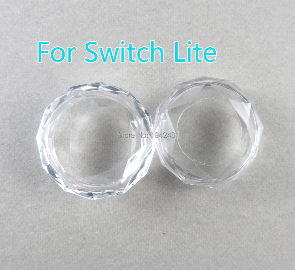 2pcs For Ns Switch Joy Con Joystick Crystal Thumb Grip Cover Case Crystal Analog Stick Caps For Nintend Switch Lite NS Joy Con