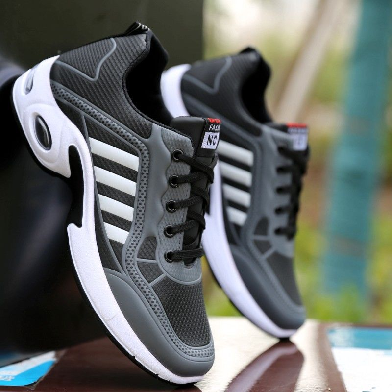 2020 Spring Boy Casual Shoes Men Leather Sneakers Wedges Sports Shoes Men's Sneakers Elastic Force Breathable Sneakers