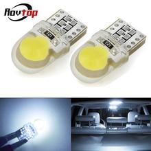 T10 светодиодный W5W 168 194 COB светодиодный лампы для фар светильник кремнезема 12V Авто упаковочные поворот стороны номерного знака светильник лампы белого цвета