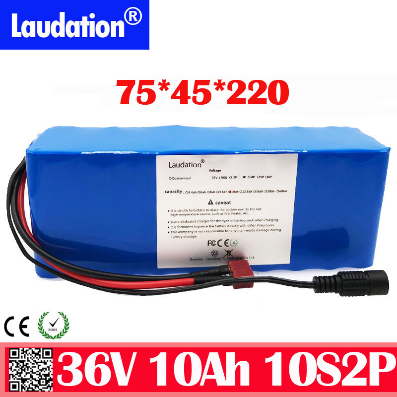 36V battery (built-in bms) 10ah 21700  rechargeable lithium battery pack for electric bicycle scooter free shipping laudation