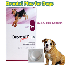 Drontal Plus For Dogs 8/32/104 Tablets (Tapeworm Dewormer for Dogs) Fast delivery