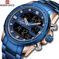 Top luksusowa marka NAVIFORCE mężczyźni zegarki wojskowy wodoodporny LED sportowy cyfrowy zegar męski męski zegarek na rękę relogio masculino na