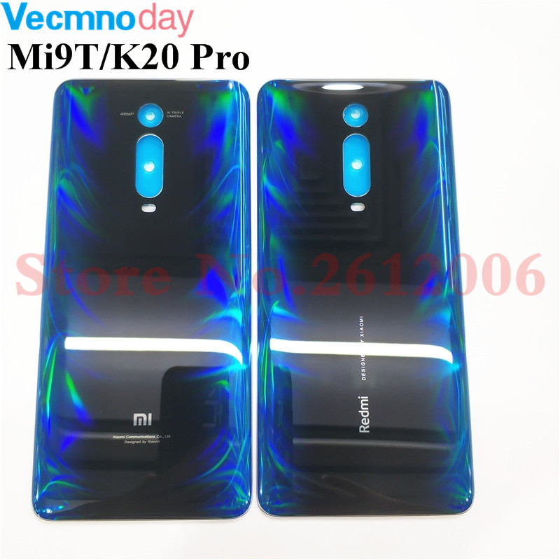 Original Back Glass Cover For Xiaomi Redmi K20 K20 Pro Mi 9T MI9T Pro Back Door Replacement Battery Rear Housing Cover Case