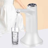 Bomba dispensadora de agua recargable por USB, botella eléctrica silenciosa automática con Base para el hogar y la Oficina