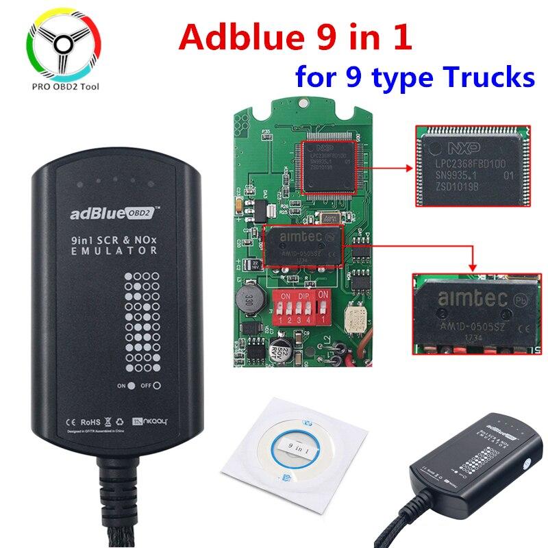 Горячая Распродажа Adblue 9 в 1 Обновление Adblue 9in1 Универсальный не нужно никакого программного обеспечения 9in 1 эмуляции коробка для мульти-самы...