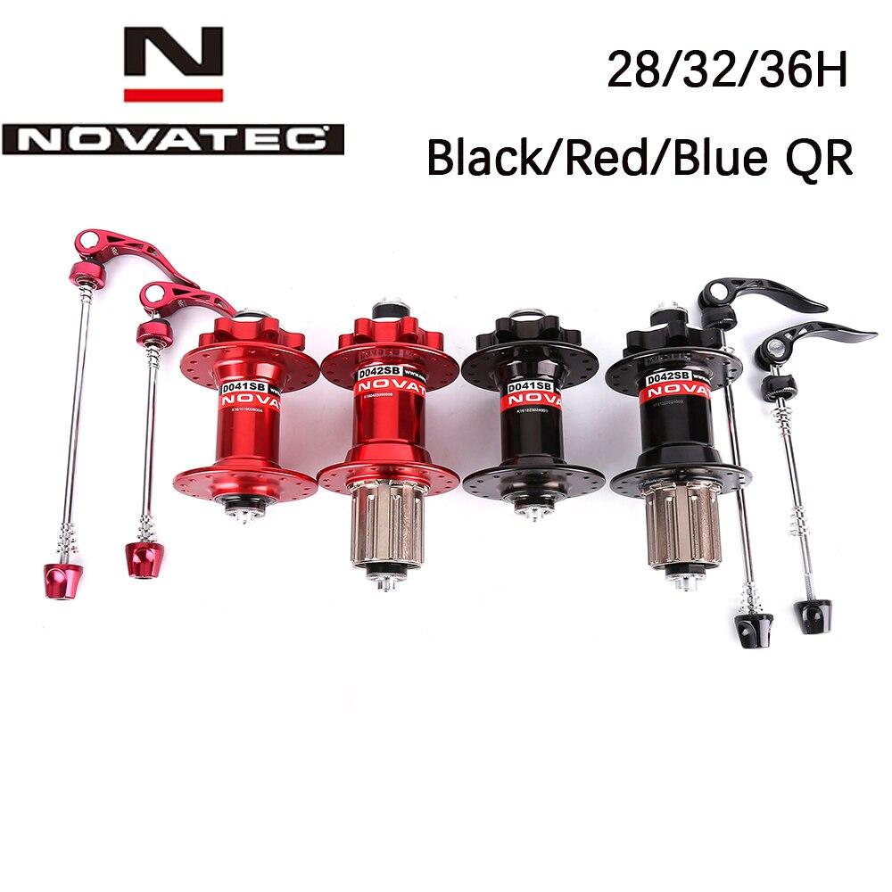 Ступица Novatec d041sb d042sb для велосипеда, отверстия ступицы для горного велосипеда, 28h 32h 36h, 5 цветов
