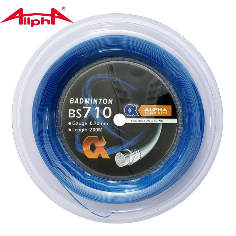 Alpha 0.70mm Badminton String Line  BS710 200m Reel Strength Racket Line 24-28lbs