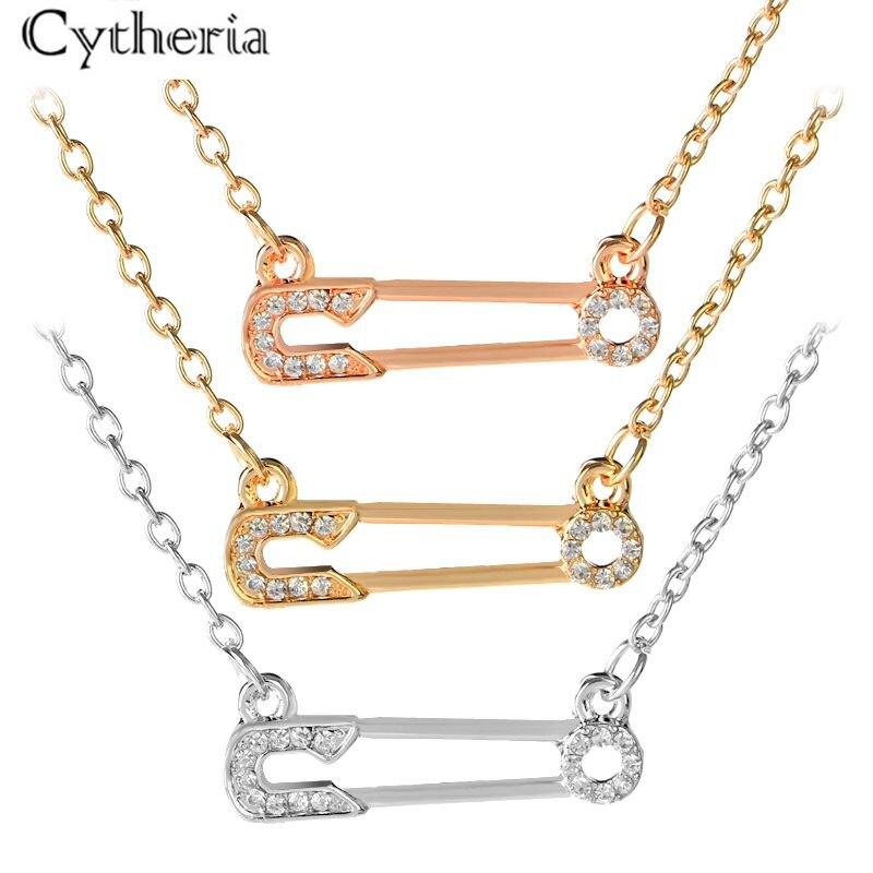 Forma de correia transportadora colares para mulher simples cristal colar forma pino jóias