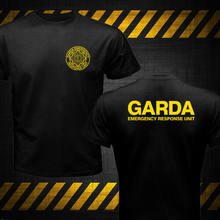 Nova irlanda polícia irlandesa swat garda unidade de resposta de emergência tshirt nova moda marca roupas impressão em torno do homem impressão t camisa