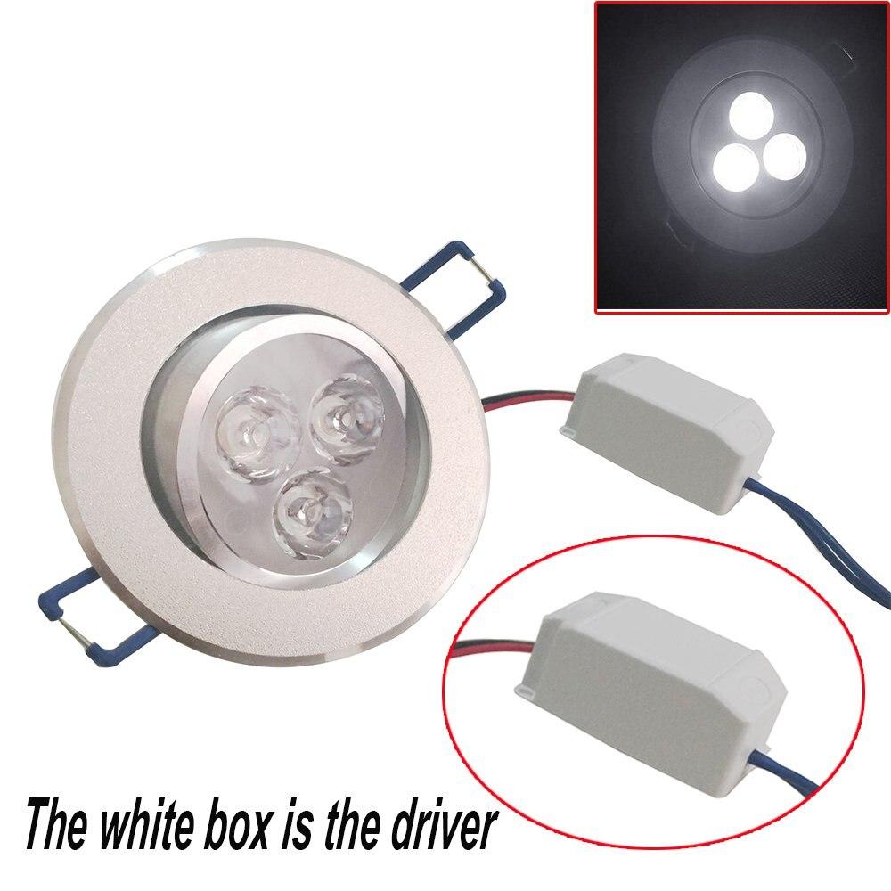 Упаковка из 20, pocketman 220v 3w светодиодный встраиваемый потолочный светильник вниз светильник s Точечный светильник, теплый белый, 360-390 люмен(эквивалент 30 w