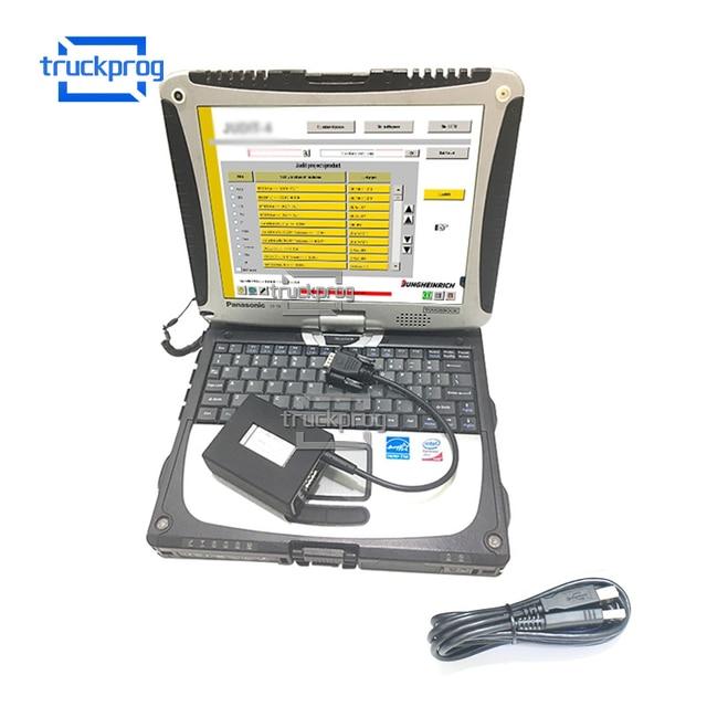 Dla Jungheinrich wózek widłowy Incado interfejs diagnostyczny USB przewód połączeniowy CF19 laptop Judit wózki widłowe narzędzie diagnostyczne