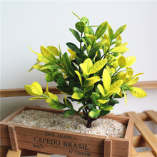 1 Pc Artificial Plants Simulation Green Leaves Fake Plants Wall Garden Accessories Plastic Plant Modern Home Decoration 1 pc simulation plant artificial silk leaves turtle leaf diy wall accessories home garden decoration