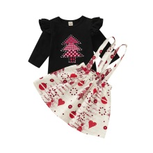 Горячая Распродажа, одежда для маленьких девочек Carters, одежда для маленьких девочек, милый боди+ многослойная юбка+ наколенники, одежда для девочек на первое Рождество D40