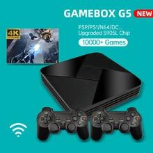 Powkiddy G5 S905L Spiel Box 10000 + Spiele WiFi Retro TV Box Video Game Player 4K HD Super Konsole X Emulator Für PS1/N64/DC