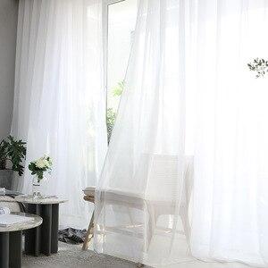 Image 5 - الحديثة مخرمة الدانتيل الستائر لغرفة المعيشة البيج/الأبيض حك الجوف خارج نافذة الستائر للشرفة يمكن سماط X M181 #40