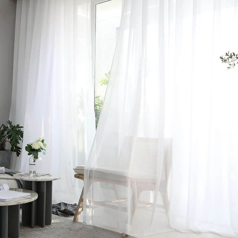 Image 5 - Modern Openwork Lace Curtains for Living Room Beige/White Knit Hollow out Window Drapes for Balcony Can Be TableCloth X M181#40Curtains   -