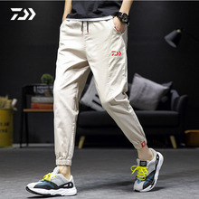 Daiwa, весна-осень, Мужские штаны для бега, спортивные штаны, одноцветные, дышащие, на завязках, штаны для рыбалки, одежда для рыбалки, брюки для улицы