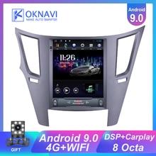 Autoradio pour Subaru Outback 9.7 pouces 2010-2014 Android 9.0 Carplay DSP roue extensible Tesla Style GPS Navigation multimédia