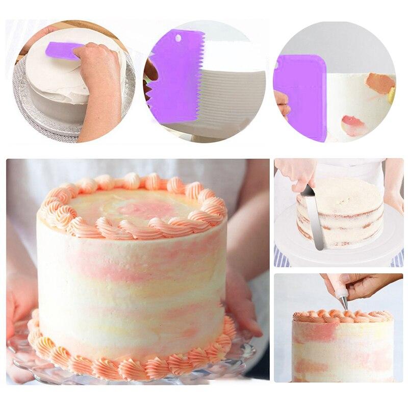 137pcs Cake Decorating Tools Kit Turntable Baking Supplies Tips Bag Nozzles Set